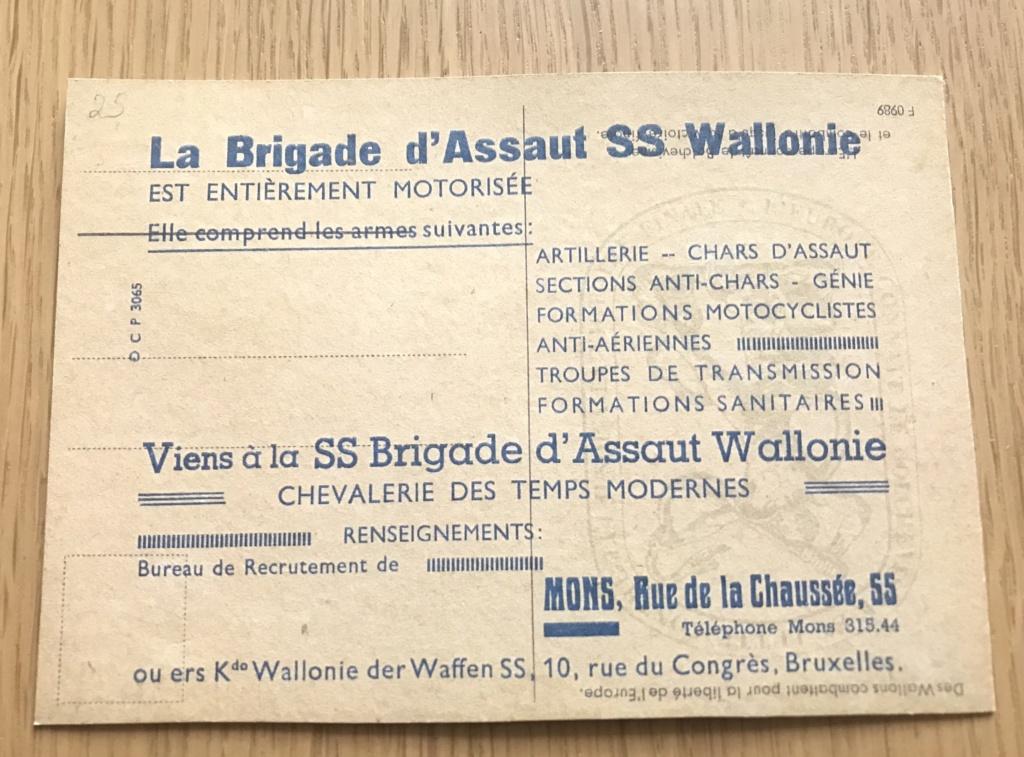Cartes postales Légion Wallonie 88fecd10