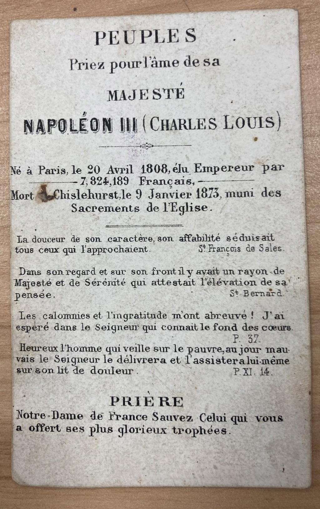 Carte mortuaire Napoleon 3 B4854910