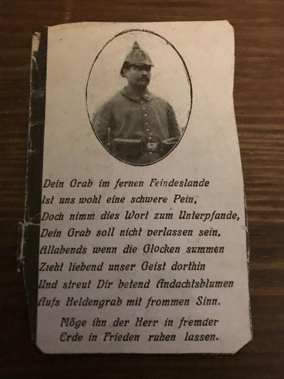 Avis de décès soldat allemand 14-18  - Page 2 Cdad3d10