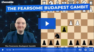 Chessable  The Fearsome Budapest Gambit  By FM Kamil Plichta  9k110