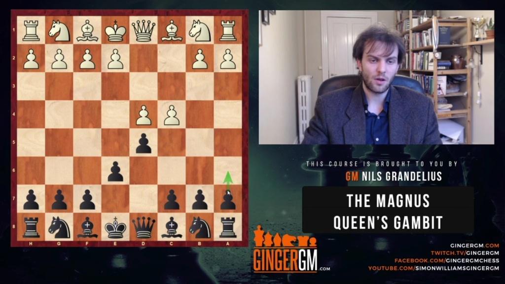 NEW 2021 GINGERGM The Magnus Queens Gambit-GM Nils Grandelius Scree112