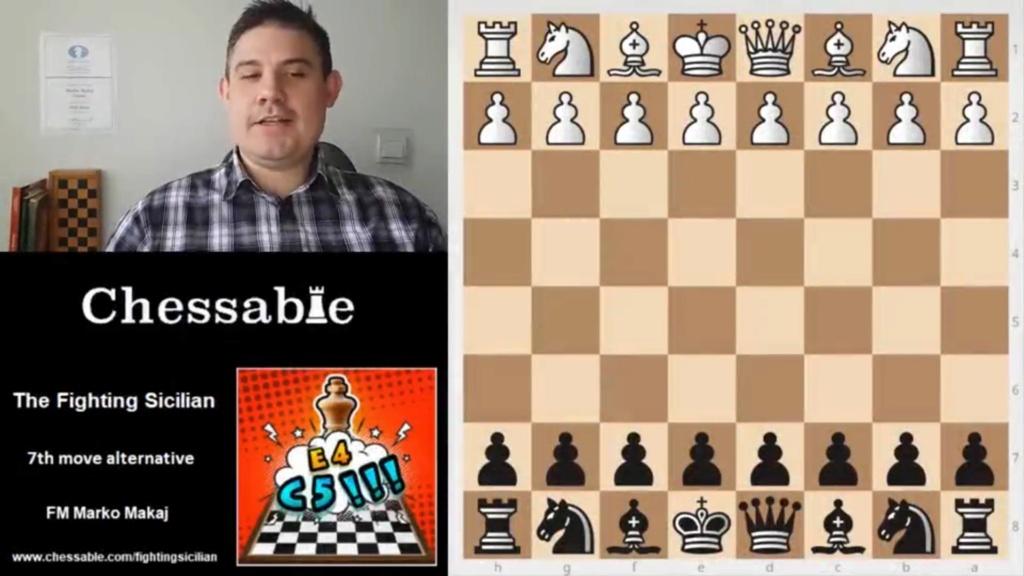 CHESSABLE The Fighting Sicilian: A complete repertoire vs 1.e Scree122