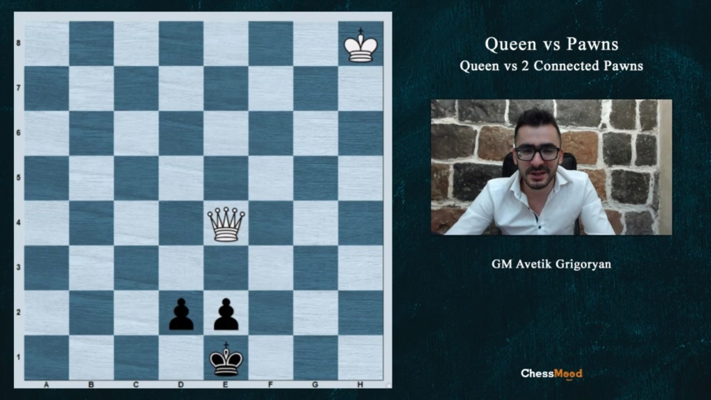 "ChessMood Course ""Queen vs Pawns."" By GM Avetik Grigoryan   Screen84"