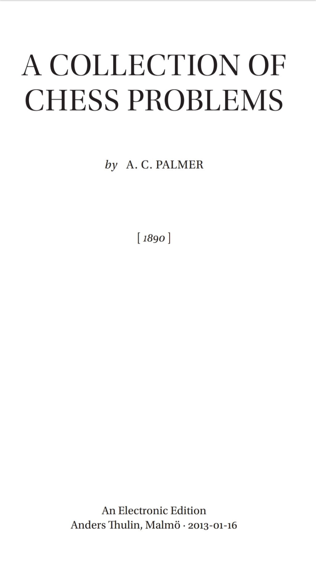 Palmer Collection of Chess Problems   Screen96