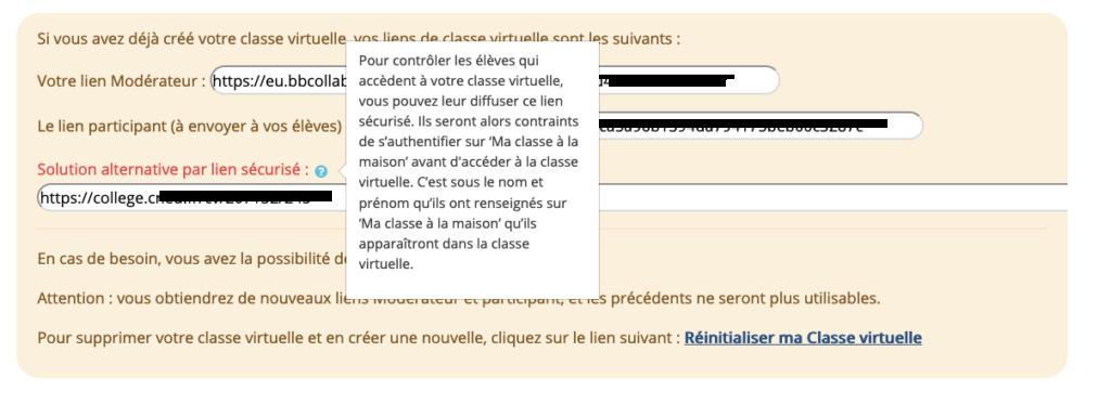 sécurisation classe virtuelle Captur18