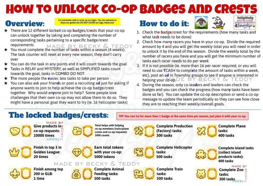 Co-op Badge & Crests Achievements How_to10