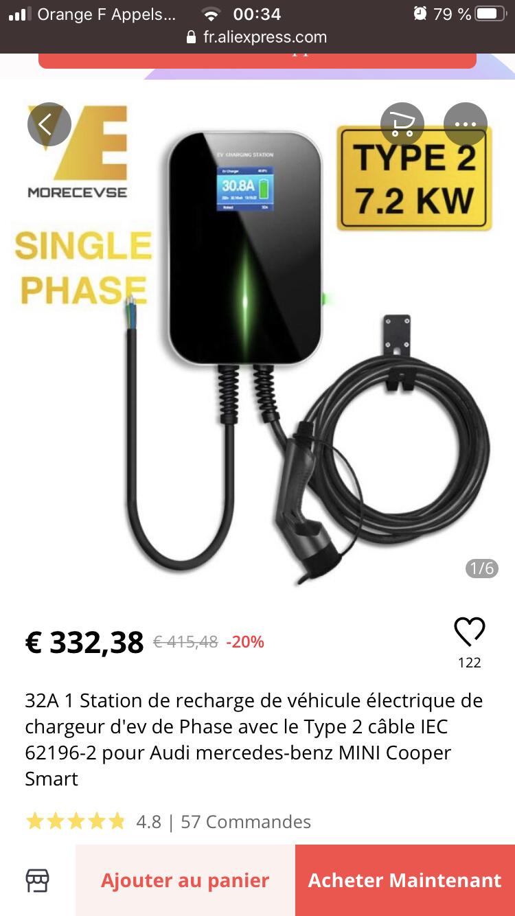 Protection tableau électrique pour borne 7 kW  3ef38910
