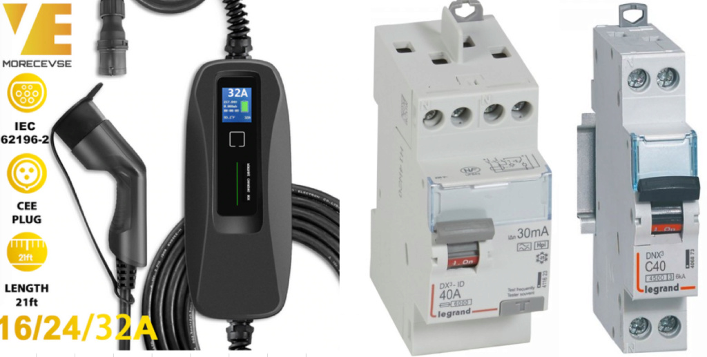 Protection tableau électrique pour borne 7 kW  Captur10