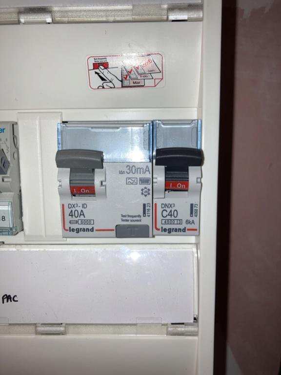 Protection tableau électrique pour borne 7 kW  Dce79d10