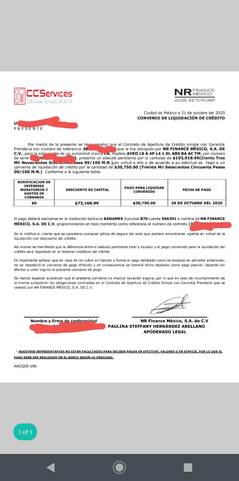 Acuerdo para obtener factura de carro Crédito Automotriz Screen12