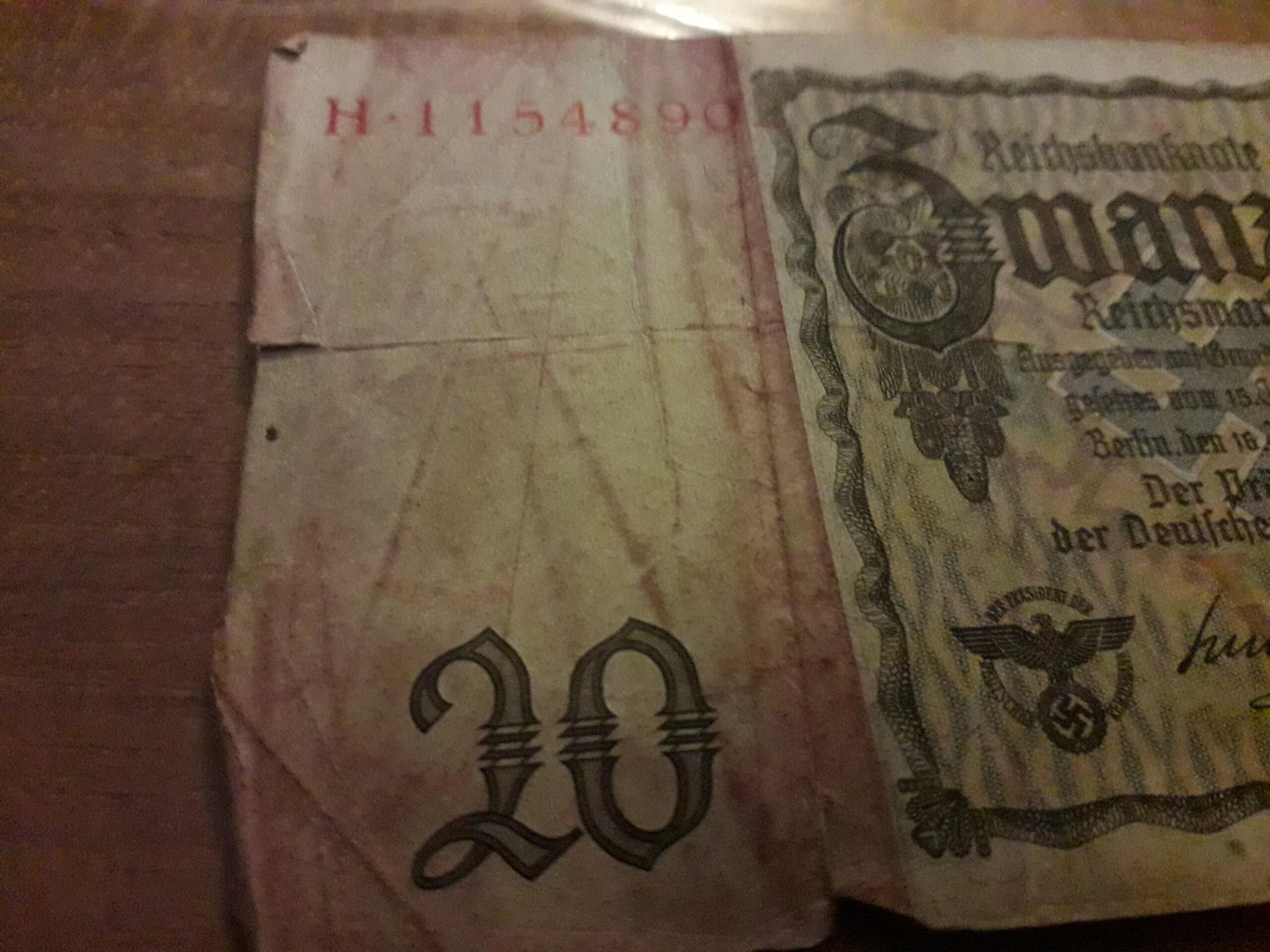Billet de 20 Reichsmark 20201217