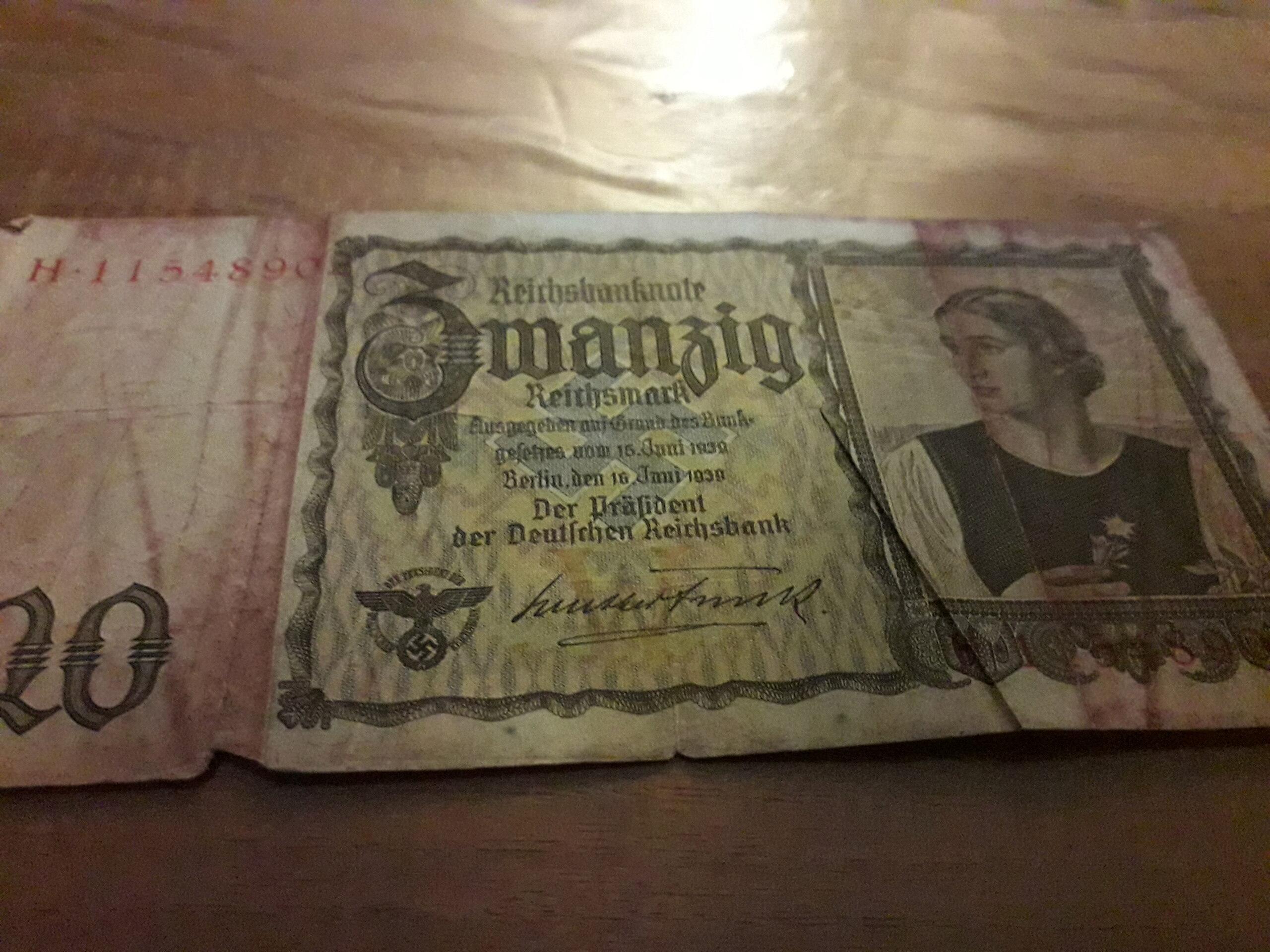 Billet de 20 Reichsmark 20201219