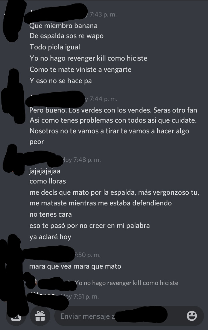 [Reporte] Jero Martinezz - ( Revenge Kill - DM) 20210710