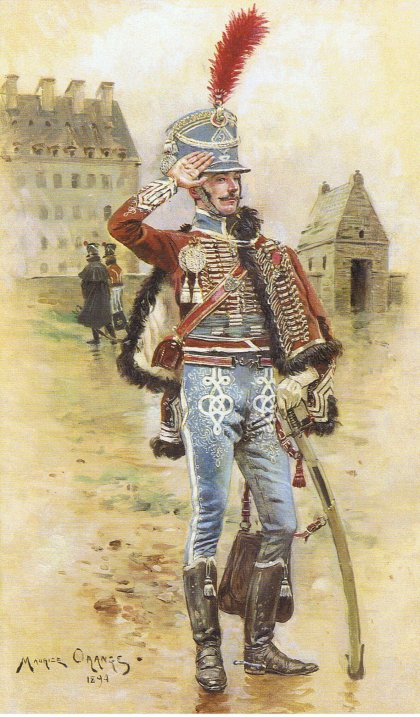 Robert Gaspard Nicolas Custine, major du 8ème hussards 2-me-h10