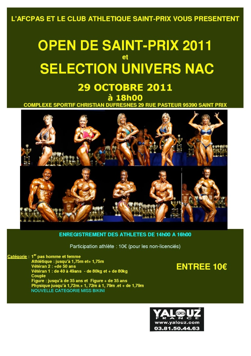 OPEN DE ST PRIX 2011 ET SELECTION UNIVERS - Page 2 Affich12