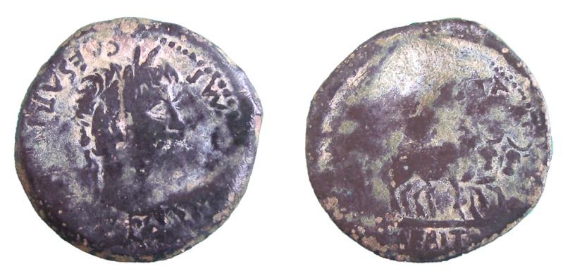 As de Emerita Augusta (Augusto, r: yunta de bueyes) P3160111