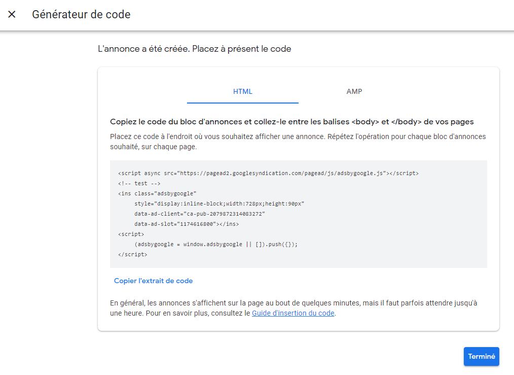 Problème avec Google Adsense Doute10