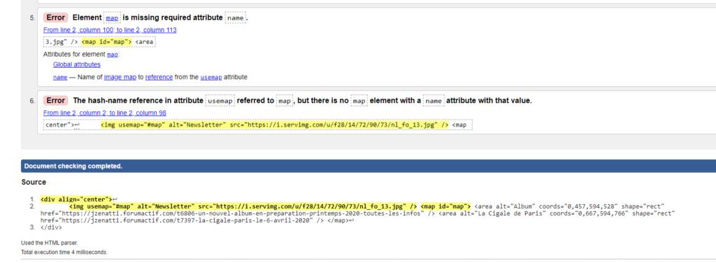 Problème de lien cliquable dans une newsletter uniquement sur iPhone Error10