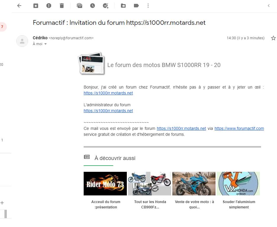 Non réception des messages envoyés par l'option de promotion du forum. Gmail10