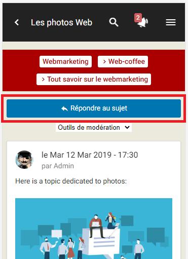 Améliorations de la version mobile : citation, outils de modération, ... Reply10