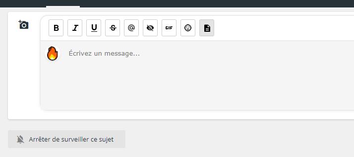 Ajouter boutons dans éditeur de réponse rapide  Testic10