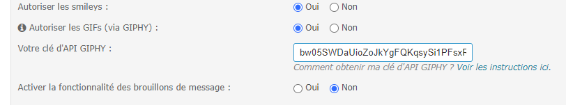 Obtenir la clé API GIPHY et activer l'insertion des GIF dans l'éditeur Tuto11