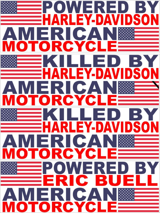 Stickers with american flag Buell_10