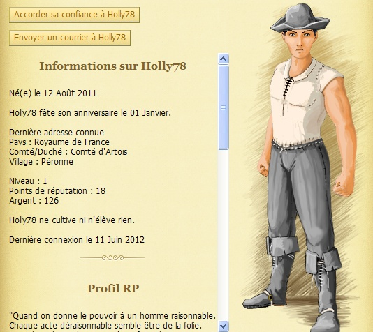 Holly78 [TOP] - usurpation de droits  - Clermont - Le 06/05/1460 Holly713