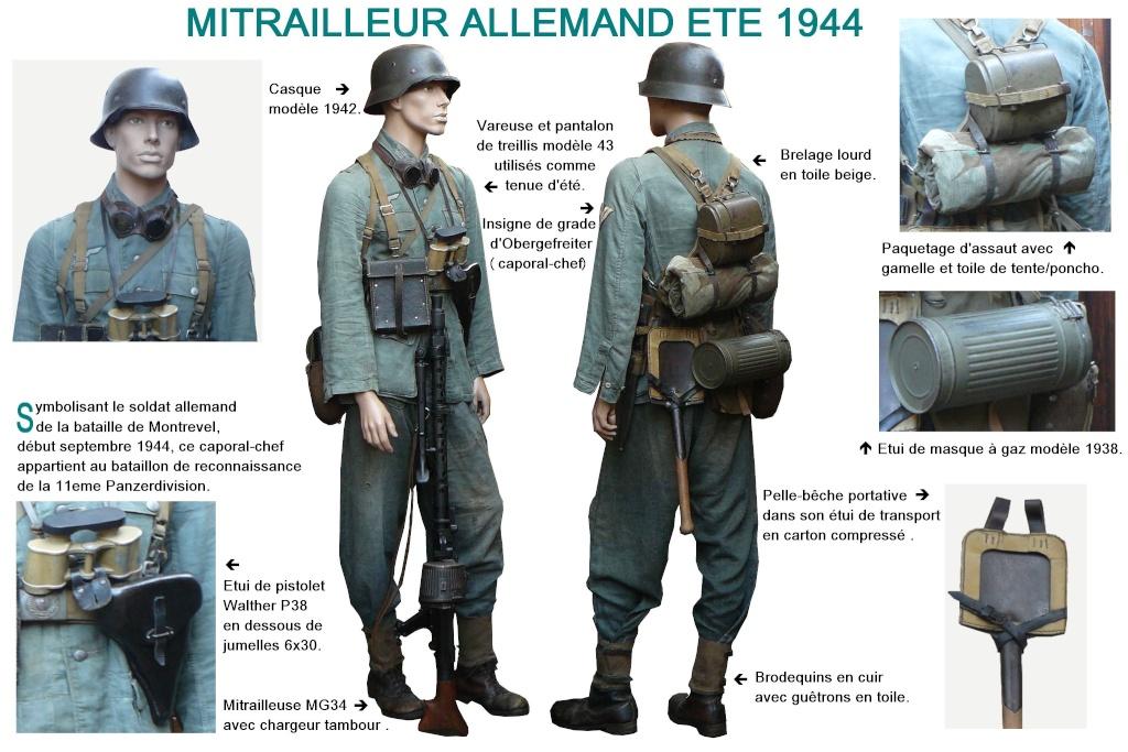 Mitrailleur allemand 11eme PzDiv Montrevel Septembre 1944  Texte214