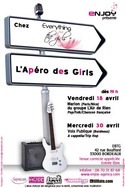 L'APERO DES GIRLS mercredi 30 avril Aperog10