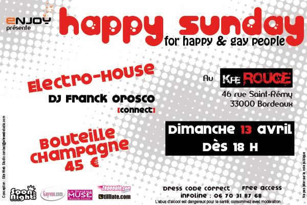 Le Tea-Dance HAPPY SUNDAY est de retour DIMANCHE 13 AVRIL! Happy-10