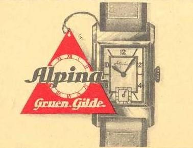 "GRUEN Super G, une rareté, "" 24 heures sautantes "" Alpina11"