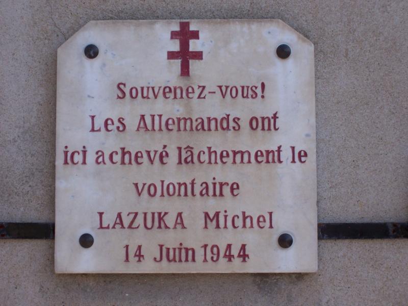 Plaque LAZUKA Michel à JUMEAUX ( 63 ) 100_7014