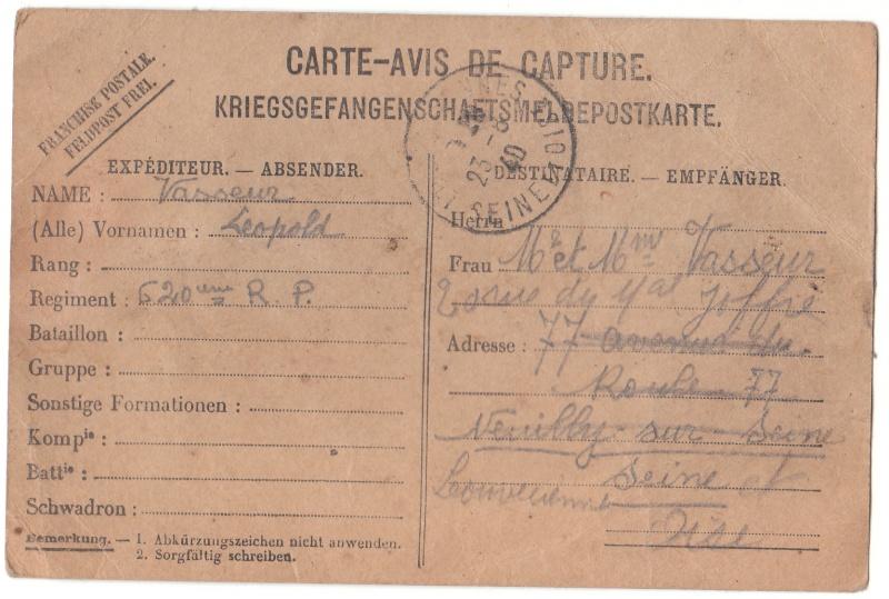 Camps de Prisonniers de Guerre (doc 5è Bureau) - Page 3 Pg_rec10