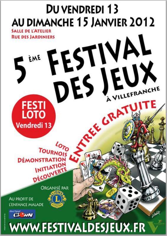 Festival des jeux à Villefranche-sur-Saône Affich10