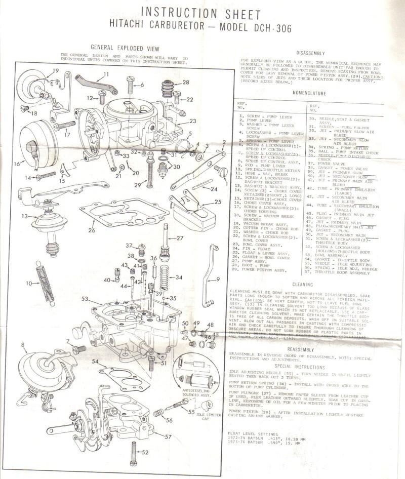 Ma Datsun VIOLET 140J de 1981 - Page 2 Carbu_13