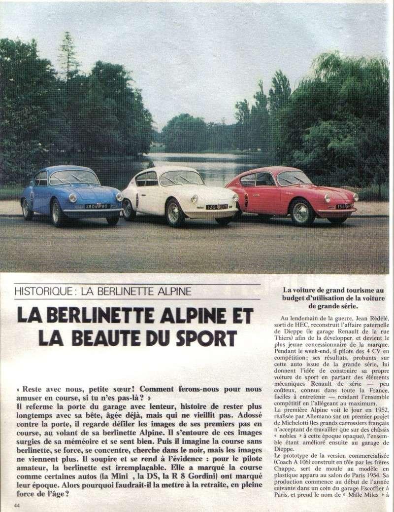 HISTORIQUE : ALPINE BERLINETTE Echapp12
