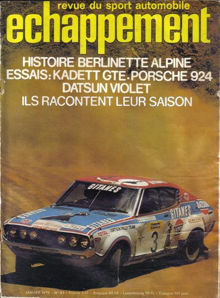 HISTORIQUE : ALPINE BERLINETTE Essais10