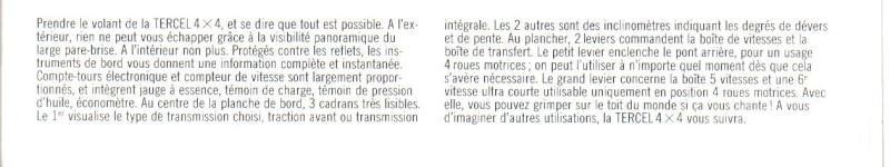 TOYOTA TERCEL & TERCEL 4WD - Page 3 Tercel22