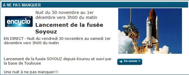 Lancement Soyouz-ST-A VS04 / Pléiades-1B - 2 décembre 2012 Annonc10