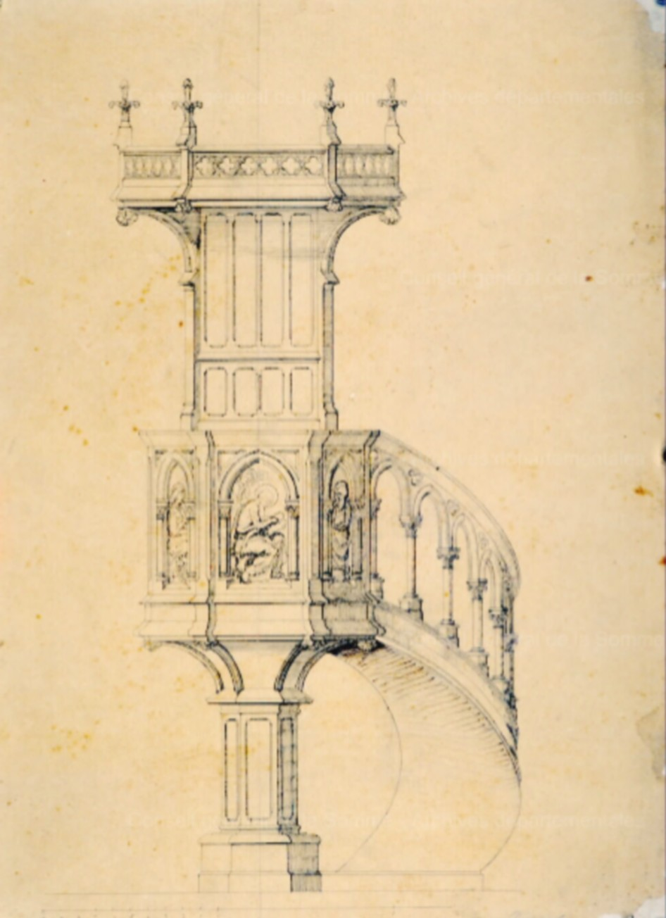 L'EGLISE de Le Quesnel : église Saint léger. Chaire10