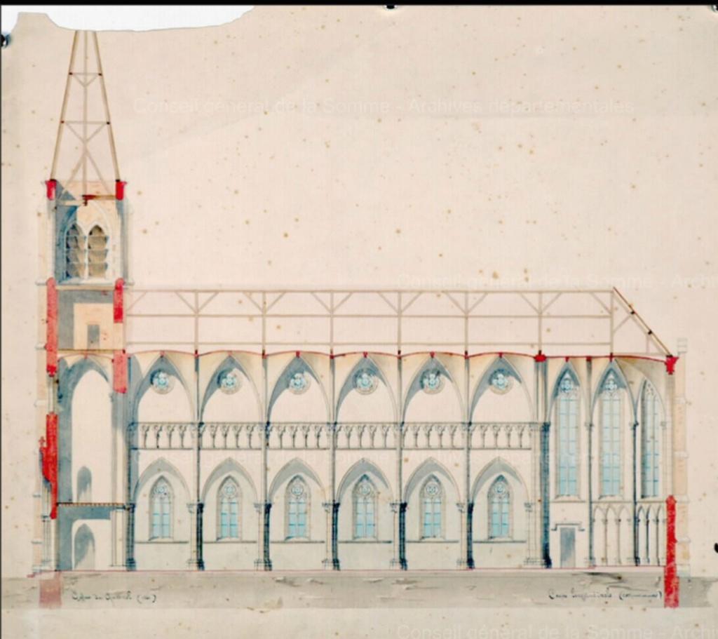 L'EGLISE de Le Quesnel : église Saint léger. Desssi10