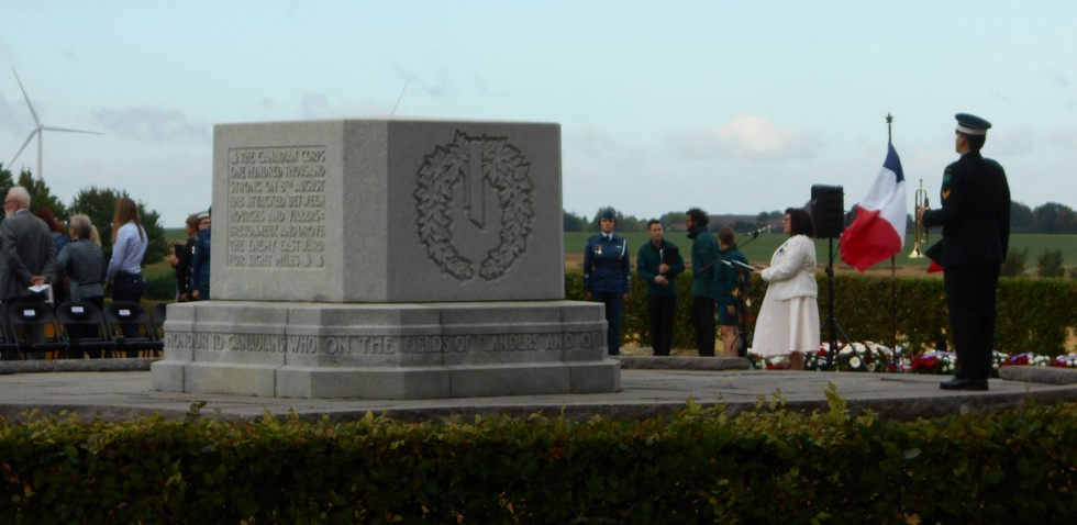 08 aout 2018 : commémoration cimetière canadien LE QUESNEL Dscn1115