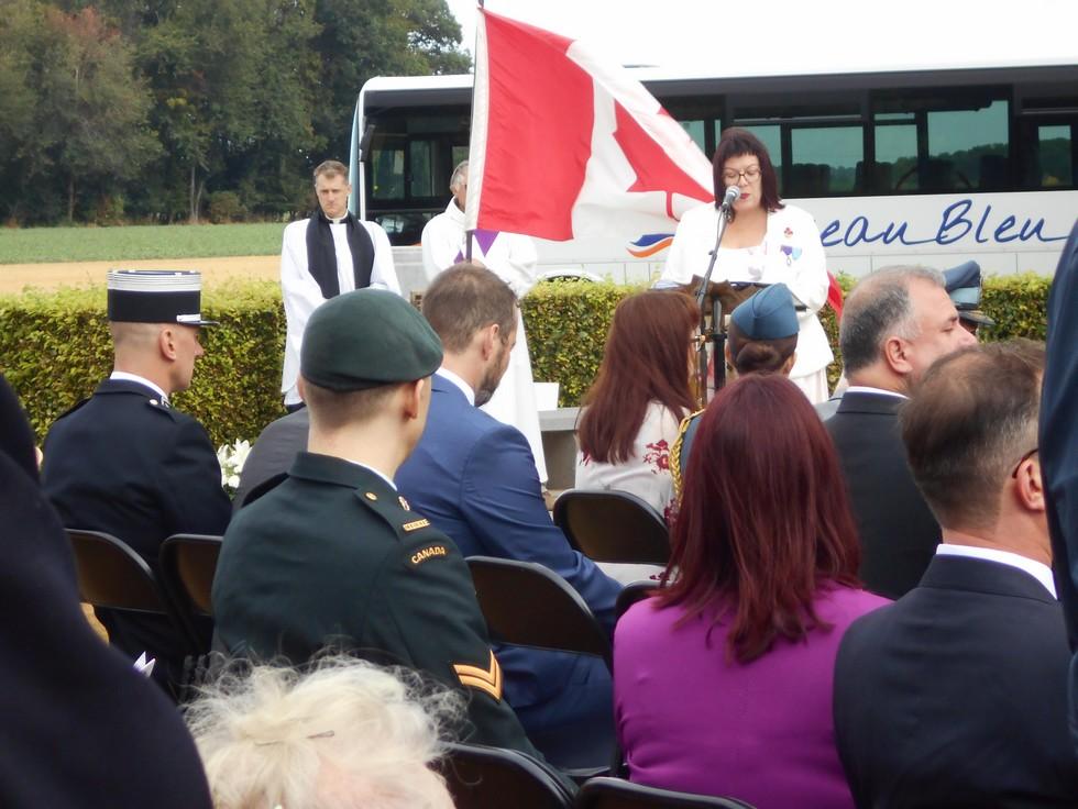 08 aout 2018 : commémoration cimetière canadien LE QUESNEL Dscn1121