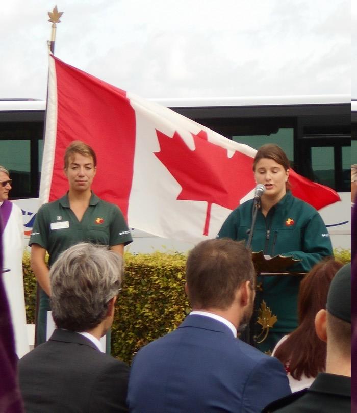 08 aout 2018 : commémoration cimetière canadien LE QUESNEL Dscn1127