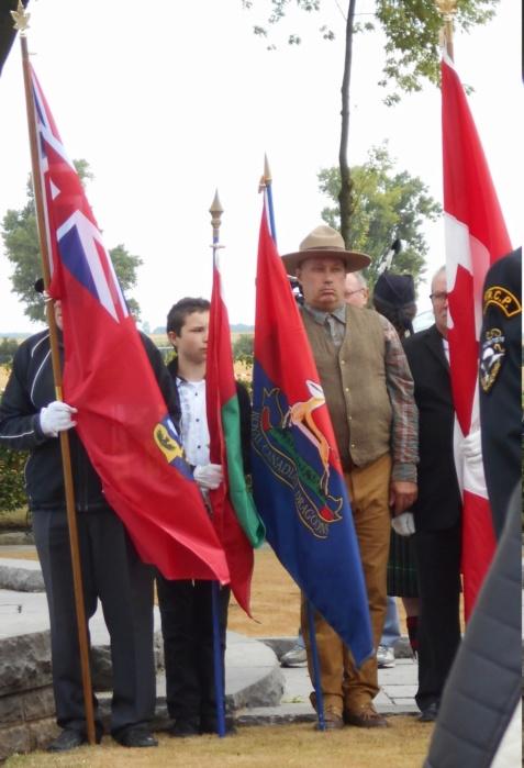 08 aout 2018 : commémoration cimetière canadien LE QUESNEL Dscn1128