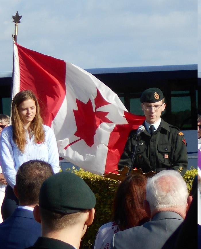 08 aout 2018 : commémoration cimetière canadien LE QUESNEL Dscn1156