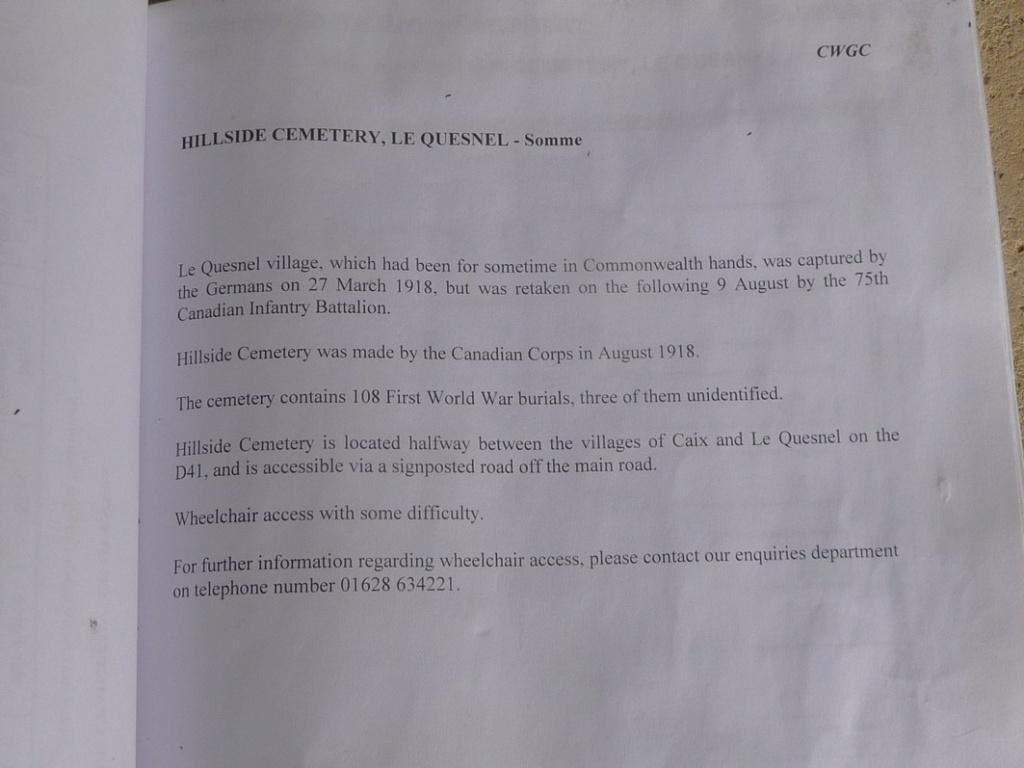 CIMETIERE : HILLSIDE CEMETERY  P1280025