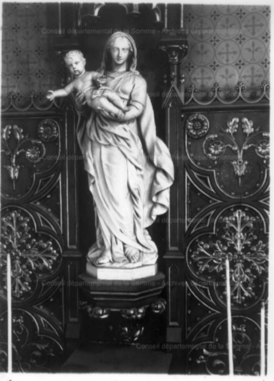 L'EGLISE de Le Quesnel : église Saint léger. Statue10