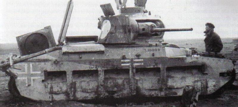 Vehiculos y Tanques capturados por los Alemanes Matild12